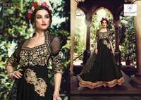 Eid Special Black Pure Georgette Anarkali Suit