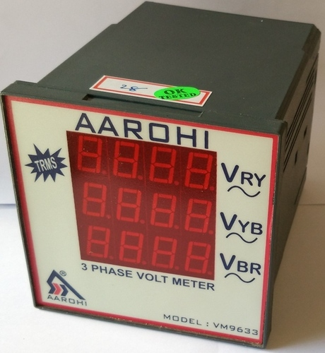 Three Phase Volt Meter