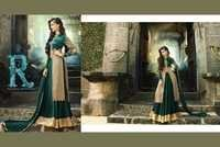 Green Georgette Embroidered Choli Style Anarkali Suit