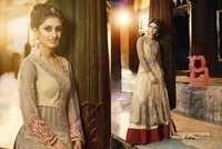 Creamy Silk EMbroidered Net Lahenga Suit