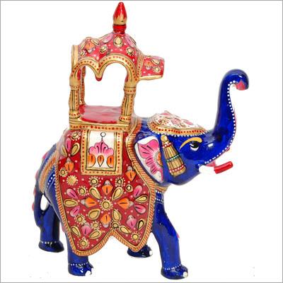 King Riding Meenakari Elephant