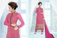 Esha Gupta Embroidered beet Pink Georgette Salwar Kameez