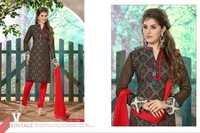 Designer Redy Black Chanderi Cotton Salwar Kameez