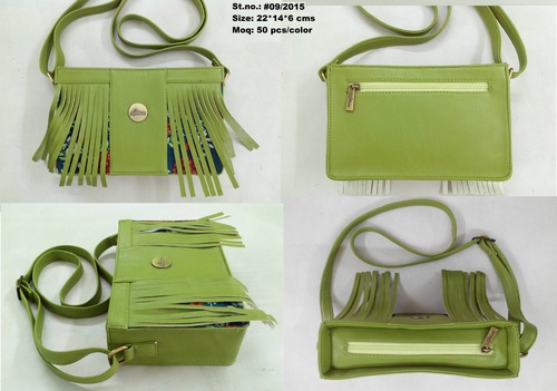Ladies Green Designer Shoulder Bag
