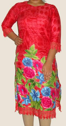 Jia Long Pakistani Designer Kurti with Lace