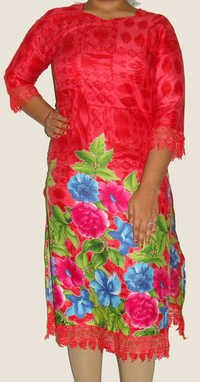Jia Long Pakistani Designer Kurti with Lace