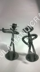 Metal Nuts And Bolts Musician Figurine Music Gift