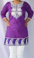 Puja Embroidery Short Kurti