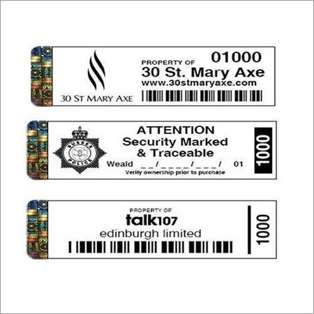 Barcode Labels with Hologram Sticker