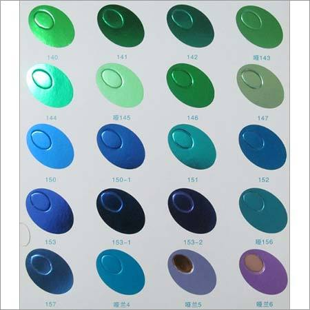 Green Hot Stamping Foils