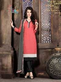 Peachy Black  Low Range Cotton Salwar Kameez