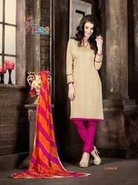 Beige pink Low Range Cotton Salwar Kameez