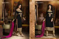 Exclusive Latest Heavy Designer Black Straight Suits