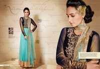 Net Viscose Embroidered Anarkali Suit