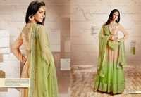 Creamy Olive Green Anarkali Suit