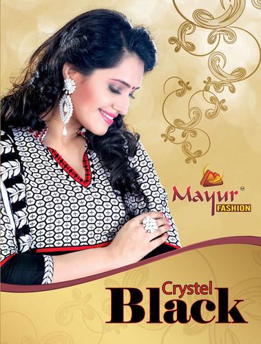 Crystal Black Dress Materials
