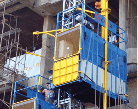 Passenger and Material Hoist Double Cage