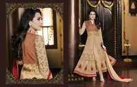 Karishma Kapoor Georgette Wedding Creamy Red Anarkali Suit