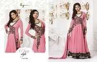 Madhubala Semistitched Pink Georgette Salwar Kameez