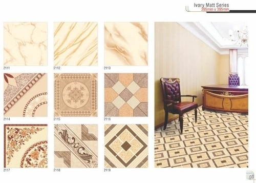 Ivory Vitrified Floor Tiles