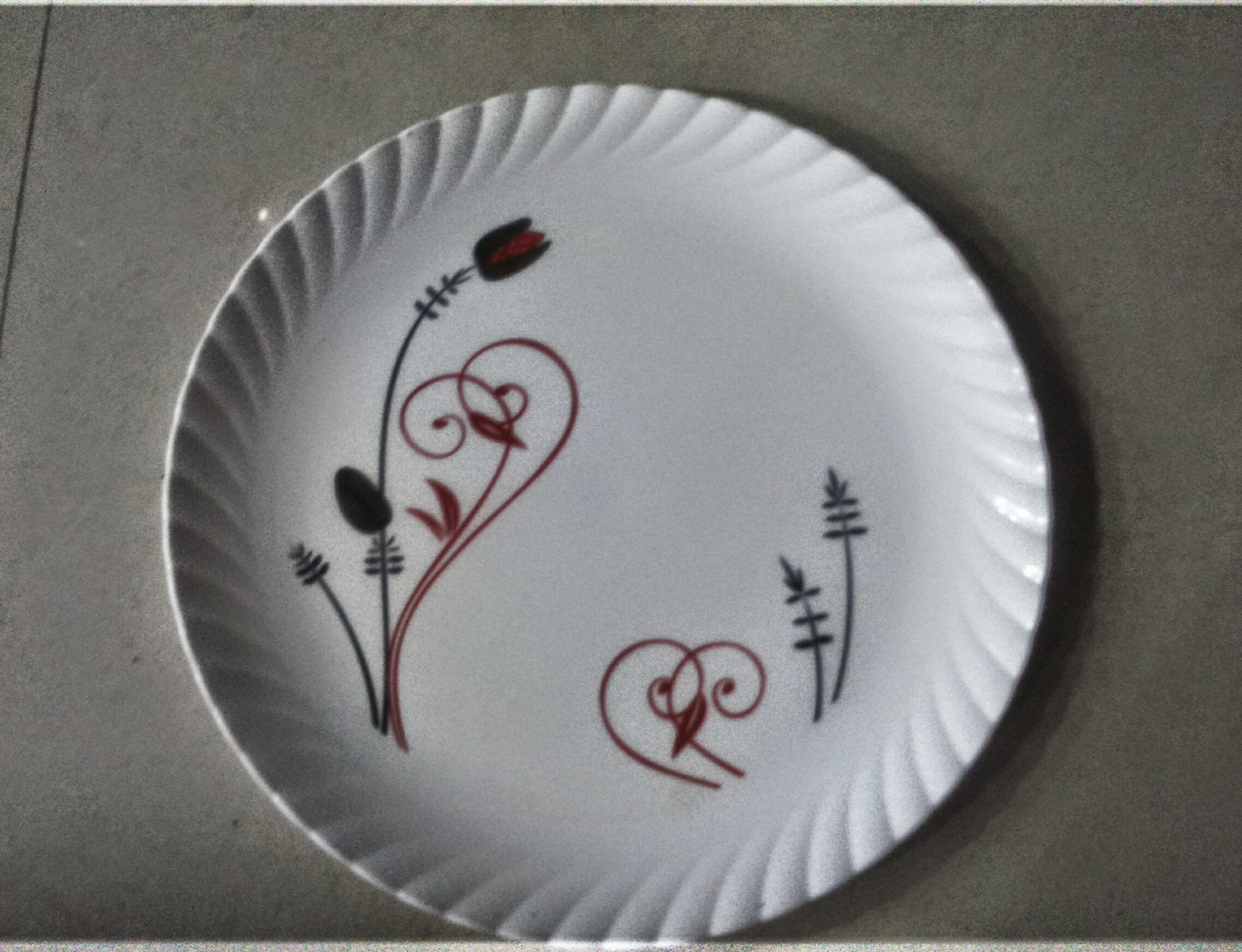 Plate Printed