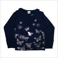 Girls F/S Winter Top Foil Print,Two Thread Fleece,