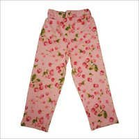 Girls Fruits Prints Track Pants color Pink