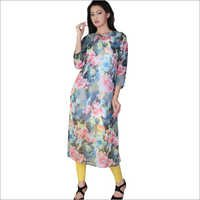Long Designer Kurti in Flower Print