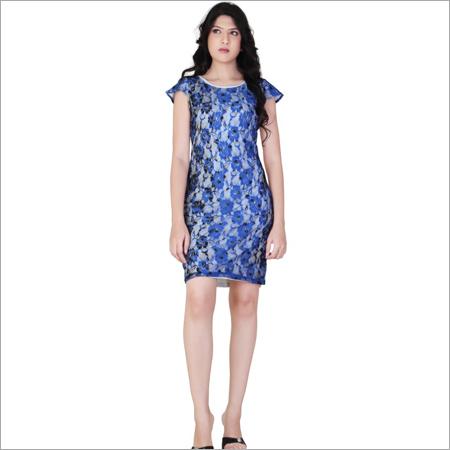 White & Blue Short Dress