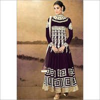 Dark Purple Color Designer Anarkali Suit