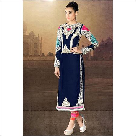 Blue Color Designer Anarkali Suit