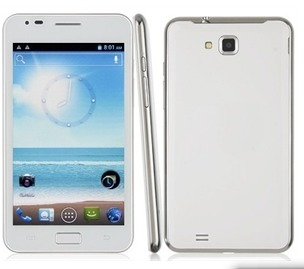 Smart Phone Android 4.0 OS MTK6575 1.0GHz 3G GPS WiFi 5.2 Inch- White