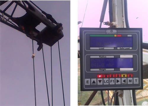 Rated Capacity Indicator (RCI) for Hammer Head Cranes