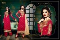 Royal Semistitch Red Georgette Salwar Kameez