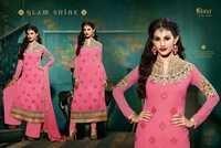 Royal Semistitch Pink Georgette Salwar Kameez