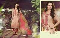Excellent Peach Cotton Unstitch Salwar Kameez