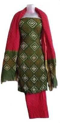 Bandhani Satin Dress Material