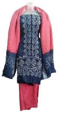 Stylish Satin Handwork Dress Material