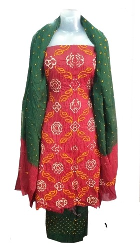 Bandhani Satin Salwar Dress