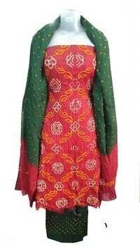 Bandhani Satin Salwar Dress