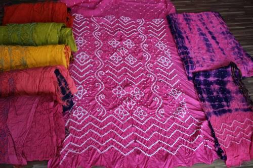 Bandhani Satin Dress Suits