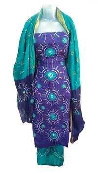 Women Cotton Satin Bandhani