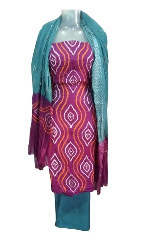 Bandhani Satin Salwar Suit