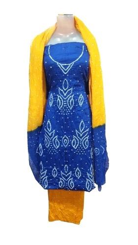 Bandhej Satin Dress Material