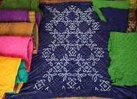 Cotton Satin Colourful Bandhani