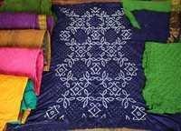 Cotton Satin Colourful Bandhani