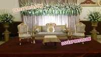 MUSLIM WEDDING GOLDEN SOFA SET