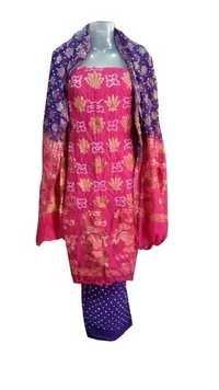 Cotton Gadwal Bandhani
