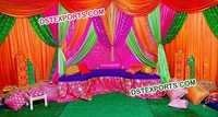 Mehandi Stage Colourful Backdrops