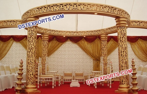 Wedding Gold Jali Mandap